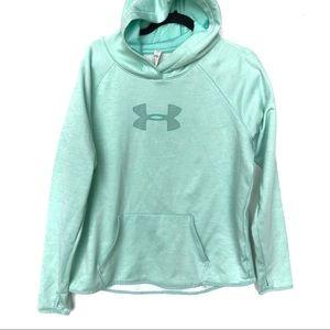 UNDER ARMOUR blue hooded hoodie S5